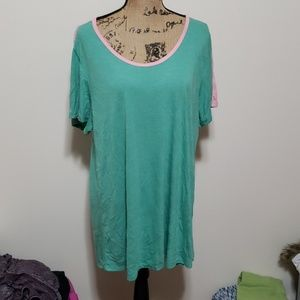 Pink and green 3xl lularoe classic t